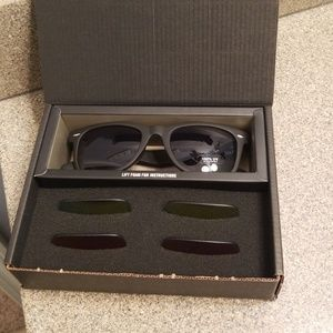 Accessories - Black/Blue/Gold Reflective Lens Sunglasses